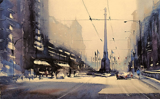 Atmospheric Watercolor Painting with Yuki Hall