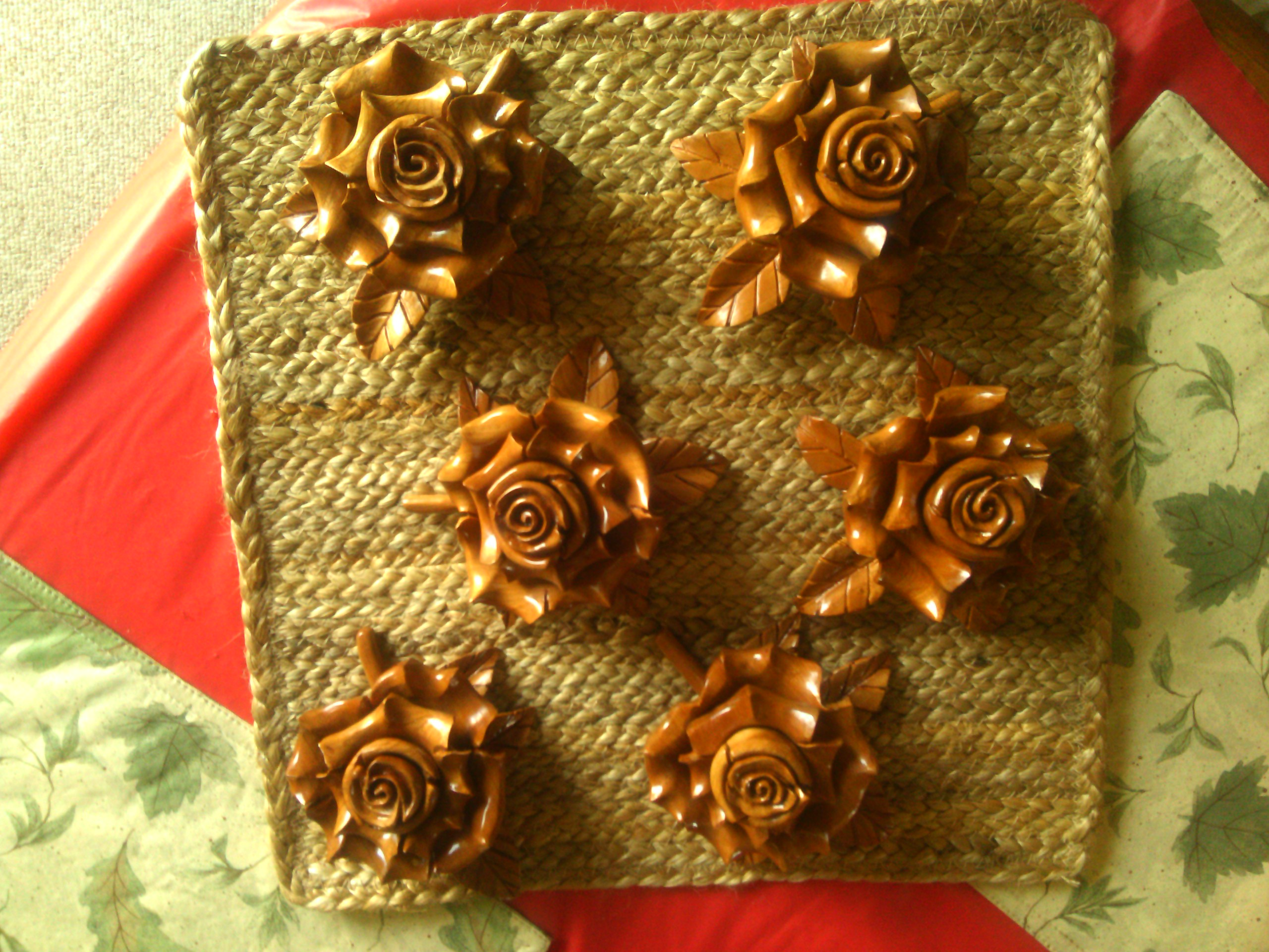 Hand Carved Roses from Logan County Court House Remnants